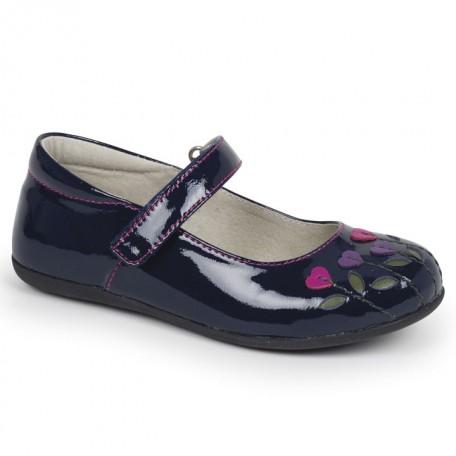 Туфли для девочек Tricia Navy Berry (Трисия синий/ягодный) SeeKaiRun