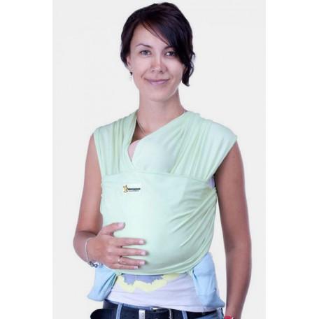 Слинг-шарф трикотажный Кенгуруша Classic фисташка для новорожденных