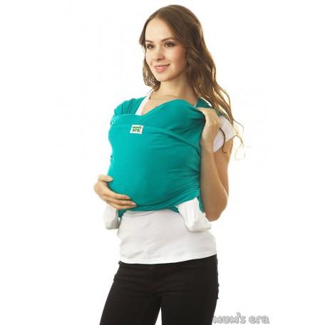 Слинг-шарф трикотажный Mum's Era (Мамс эра) Колумбия зеленый для новорожденных