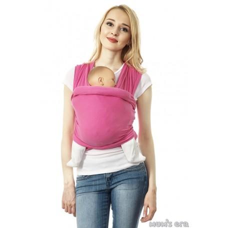 Слинг-шарф трикотажный Mum's Era (Мамс эра) Маджента розовый для новорожденных