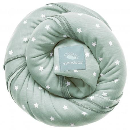 Трикотажный слинг-шарф Manduca LittleStars Mint LimitedEdition (Мандука Звезды Мятный) для новорожденных