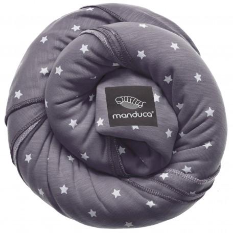 Трикотажный слинг-шарф Manduca LittleStars Slate LimitedEdition (Мандука Звезды Серый)