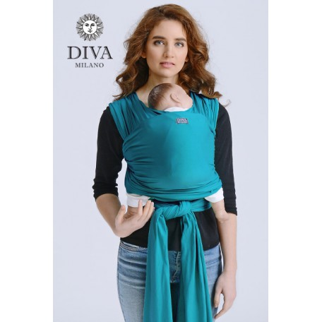 Слинг-шарф трикотажный Diva Stretchy Smeraldo для новорожденных