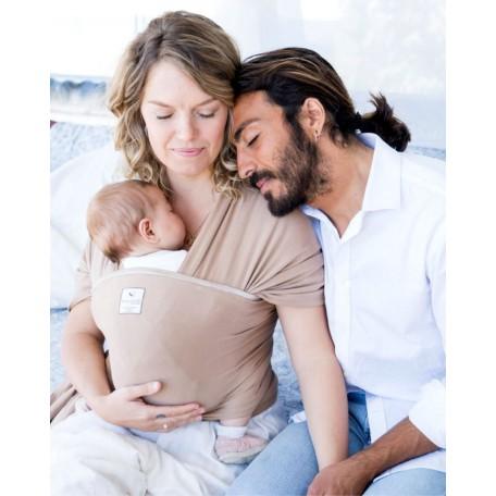 Слинг-шарф для новорожденных Hugabub Латэ трикотажный без кармана