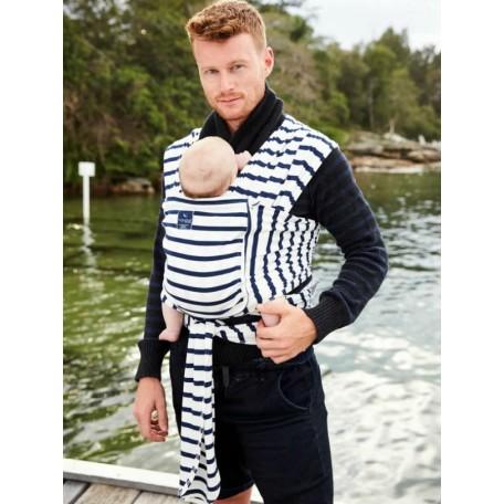 Слинг-шарф для новорожденных Hugabub Морской трикотажный с карманом (100% organic French Sailor)