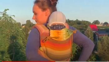 Как намотать май-слинг за спину? Видео