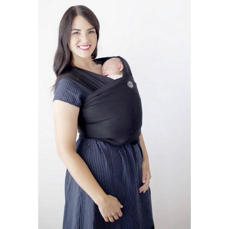 Слинг-шарф трикотажный Moby Wrap Bamboo Черный для новорожденных