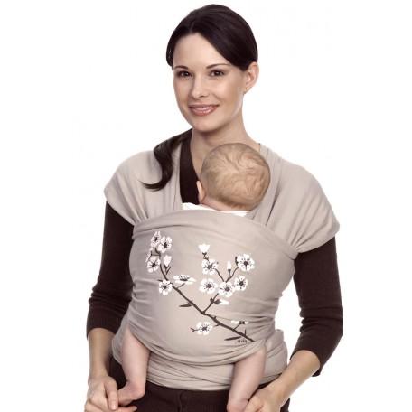 Слинг-шарф трикотажный Moby Wrap Design Цветущий Миндаль (Мобирэп) для новорожденных