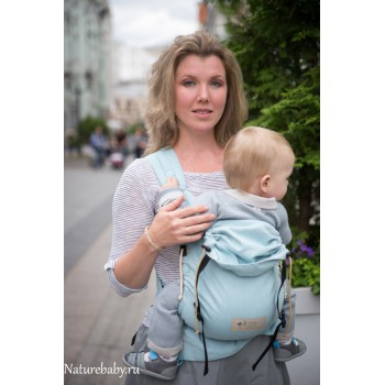 Май-слинг Storchenwiege на фастексах Aqua (Аква) для новорожденного