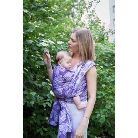 Слинг-шарф Neobulle Labirynth violet-blanc Жаккард (Лабиринты фиолетово-белые)