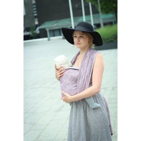 Слинг-шарф Yaro Gravity Duo Light-Rose Grey Tencel (Яро Круги розово-серый) 4.2 метра