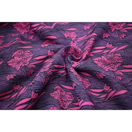 Слинг-шарф Yaro Iris Duo Black Purple Pink 4.6 метра (Ирис черно-розовый) размер 6 (4.6 метра)