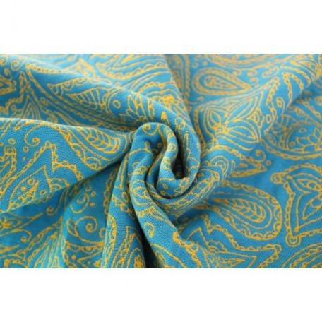 Слинг-шарф Yaro Lace Contra Yellow Blue Flame (Яро Кружева желто-голубой двусторонний) размер 6 (4.6 метра)