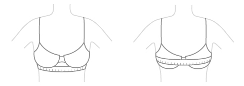 как измерить размер груди для определения размера бюстгальтера Аморалия